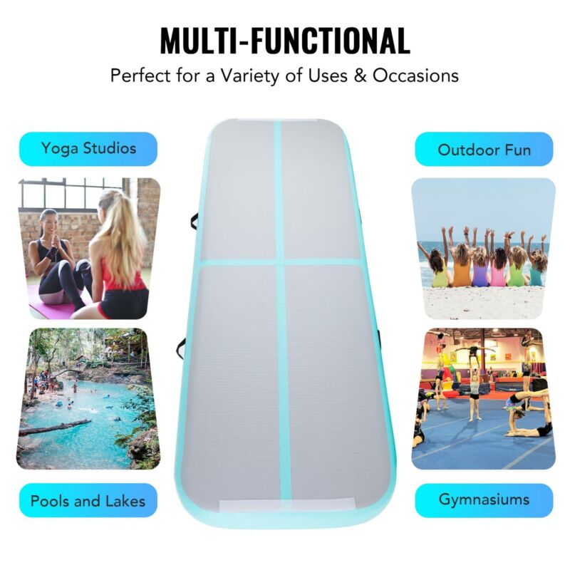 Inflatable Air Floor Track Board w/ Electric Pump