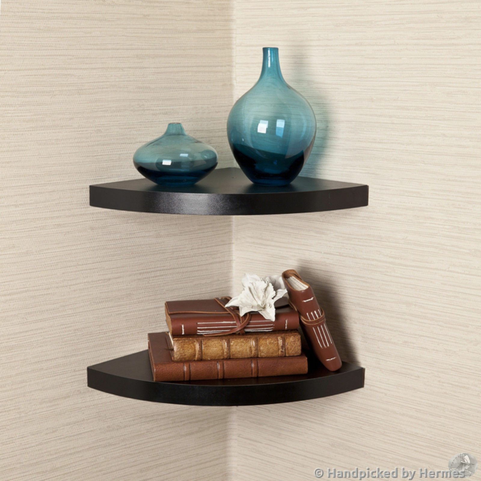 corner shelf units are helpful accessory pieces that convert unused ...