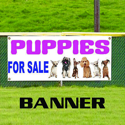 Puppies For Sale Animals Dogs Notice Novelty Indoor Outdoor Vinyl Banner Sign