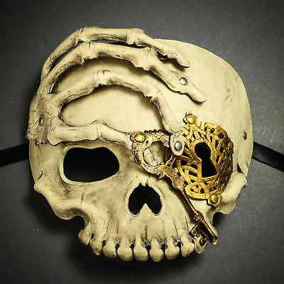 Scary Steampunk Pirate Skull Mask Skeletal Halloween Costume Masquerade Mask - Halloween Scary Skull