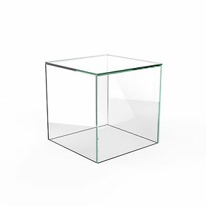 Acrylic Cube Display Stand Square 5 Sided Box Perspex Tray Retail Shop Holder