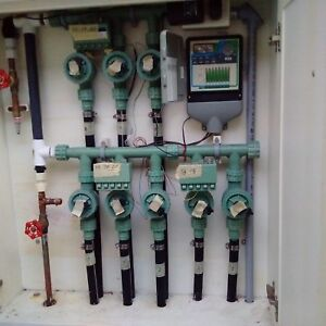 Automatic sprinkler system 8 zone with solenoids