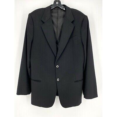 ARMANI COLLEZIONI Italy Men's Black 100% Cashmere Blazer Sz 42/L