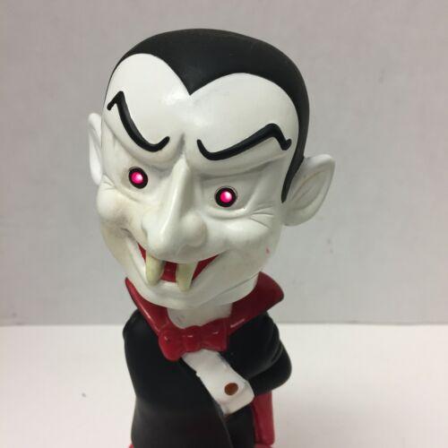 "Dracula Bobblehead Lights Sounds Vampire Halloween 8 1/2"" PVC"