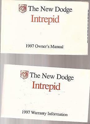 1997 Dodge Intrepid Owner's Manual and Warranty BOOKS car automobile book