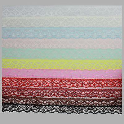 (0,48€/M) 2x4m Spitze Spitzenband Spitzenborte Spitzenbordüre Lace Breite 1,5 cm - Lace Breite Band