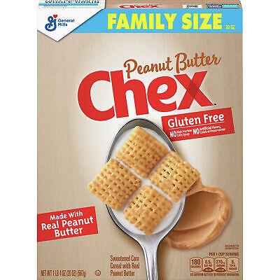 Chex Breakfast Cereal Peanut Butter General Mills Gluten Free 20 oz.