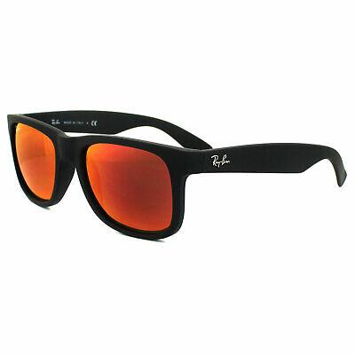 Ray-ban Sonnenbrille Justin 4165 622/6Q Gummi Schwarz Rot Spiegel Klein 51mm