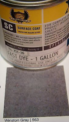1 Gl. Winston Gray Concrete Color Dye For Cement Stain Covers 500 Sq Ft