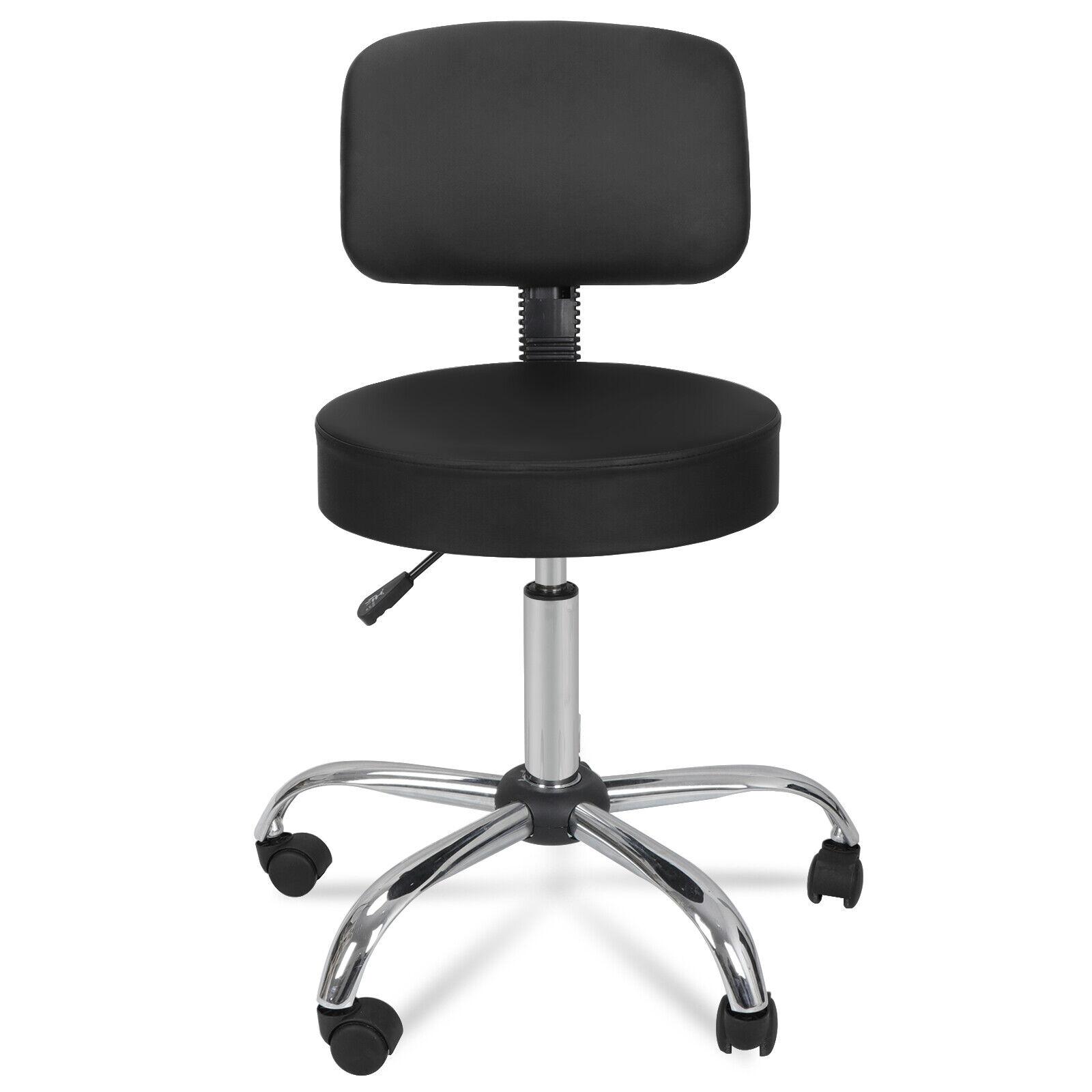 Adjustable Hydraulic Rolling Swivel Massage Spa Salon Stool Chair w/Back Rest Health & Beauty