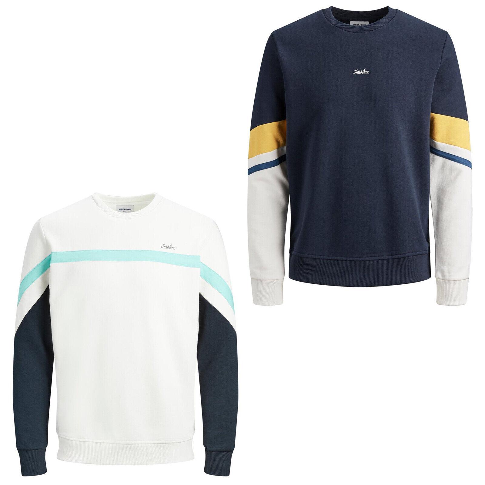 Jack /& Jones Mens Plus Size Hoodies Block Strip Zip Up Hooded Casual Sweatshirts