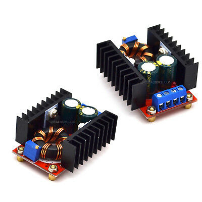 2pcs150w Dc-dc Boost Converter 10-32v 12-35v 6a Step Up Voltage Adapter Power