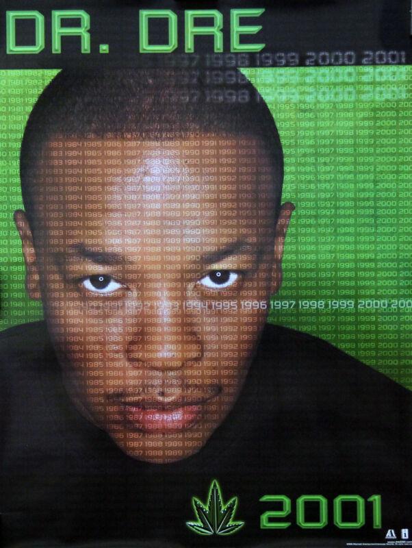 Dr. Dre 1999 Chronic 2001 Original Green Promo Poster
