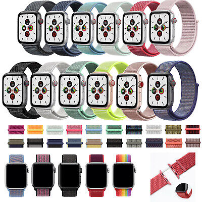For Apple Watch Nylon Strap Replacement Sport Loop Band iWatch Series 5/4/3/2/1