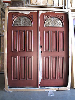 SALE!! Solid Wood Mahogany Front Unit Pre-hung &Finished DMH7104 pair of 32
