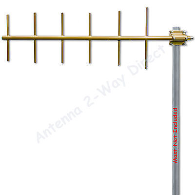 YAGI 6 ELEMENT BASE ANTENNA UHF GMRS 450-470 MHz 10.2dBd COMMERCIAL GRADE