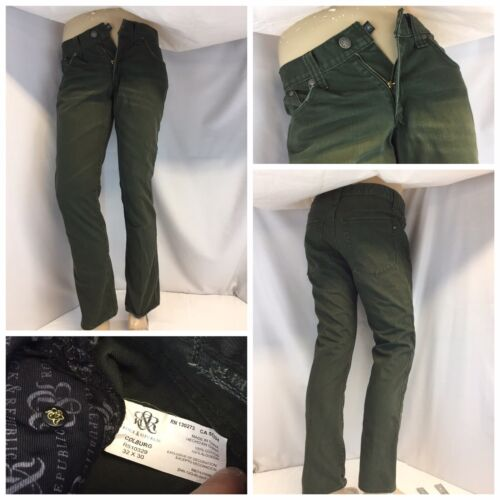 Rock & Republic Jeans 32x30 Green Cotton Colburg M