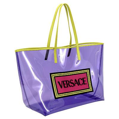 Versace Women's Transparent Multi-Color Handbag Shoulder Bag