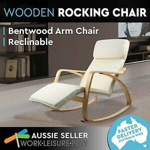 Bentwood Rocking Arm Chair Adjustable Wooden Recliner Lounge Perth Perth City Area Preview