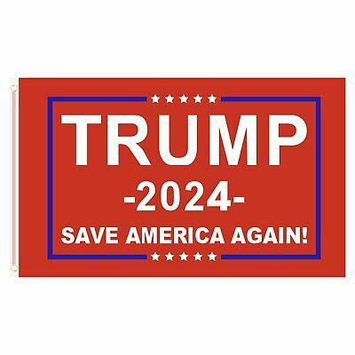 3x5FT 2024 Donald Trump Save America Again Flag Red MAGA Patriot USA Décor