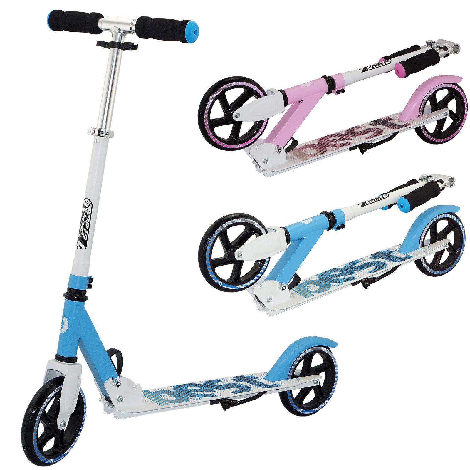 Best Sporting Scooter 180er Rolle, aus Aluminium, klappbar blau oder pink