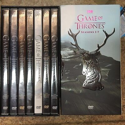 New & Sealed! TV Game of Thrones Seasons 1 - 7 DVD 1 2 3 4 5 6 7  .. 34 Disc Set