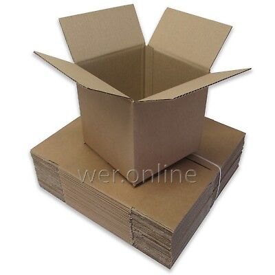 25 x Small Cubed Postal Mail Packing Storage Cardboard Cartons 8 x 8 x 8