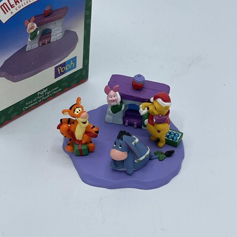 HALLMARK 1999 Merry Miniatures Winnie the Pooh ORNAMENT Set Piglet Tigger Eeyore
