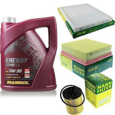 Inspection Set 5L Mannol Energy Combill 5W30 Motor Oil + Mann Filter 10769539