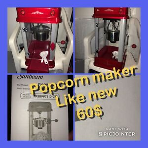 Pop corn maker like new 60$new it 120$