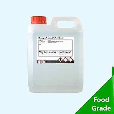Hydrogen Peroxide 3% 5 Litres FOOD GRADE *High Quality* *Courier*