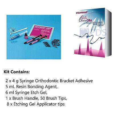 Pulpdent Ortho-choice Oba Orthodontic Bracket Adhesive Complete Ocba Kit
