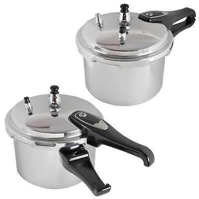 7L ALUMINIUM PRESSURE COOKER   KITCHEN CATERING HOME BRAND NEW WITH SPARE GASKET