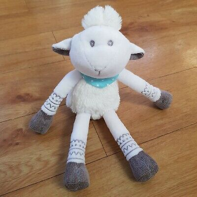 Waitrose Sheep Lamb Soft toy Plush Comforter Soother Dou , usado segunda mano  Embacar hacia Spain