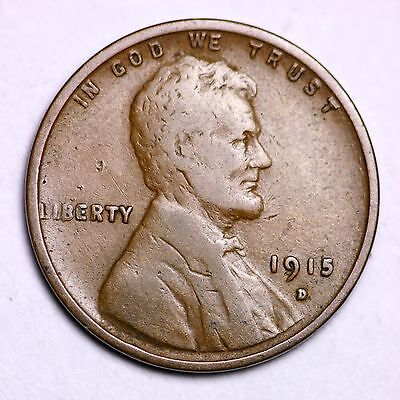 1915 D LINCOLN WHEAT CENT PENNY LOWEST PRICES ON THE BAY!  !