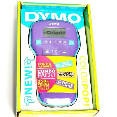 Dymo Printer Label Maker Color Pop Custom Message Color Tape Emojis Symbols
