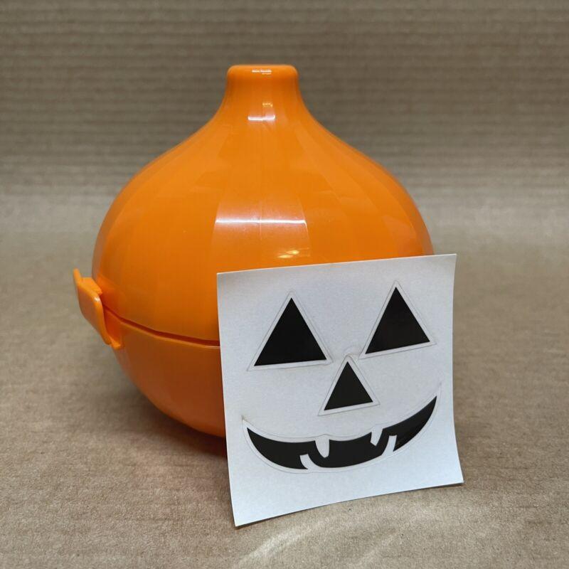 Tupperware Onion Keeper Forget Me Not Orange Halloween Pumpkin Decals #6285 New