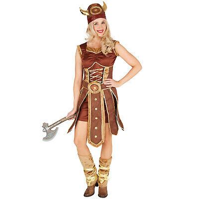 Damenkostüm Wikingerin Wikinger Barbarin Krieger Kämpferin Karneval Fasching ()