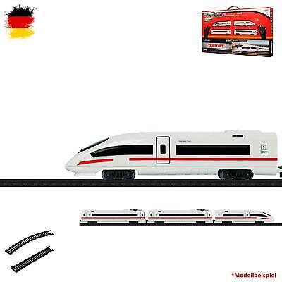 Elektrische Eisenbahn mit Schienen, Personen Schnell-Zug, Lokomotive, Lok, Sound