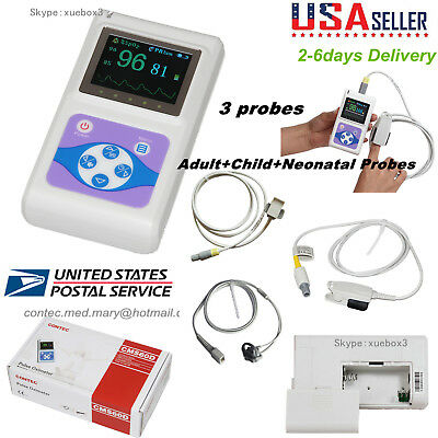 Infant Pediatric Adult Spo2 Pulse Oximeter Heart Rate Monitor Pc Software Usa
