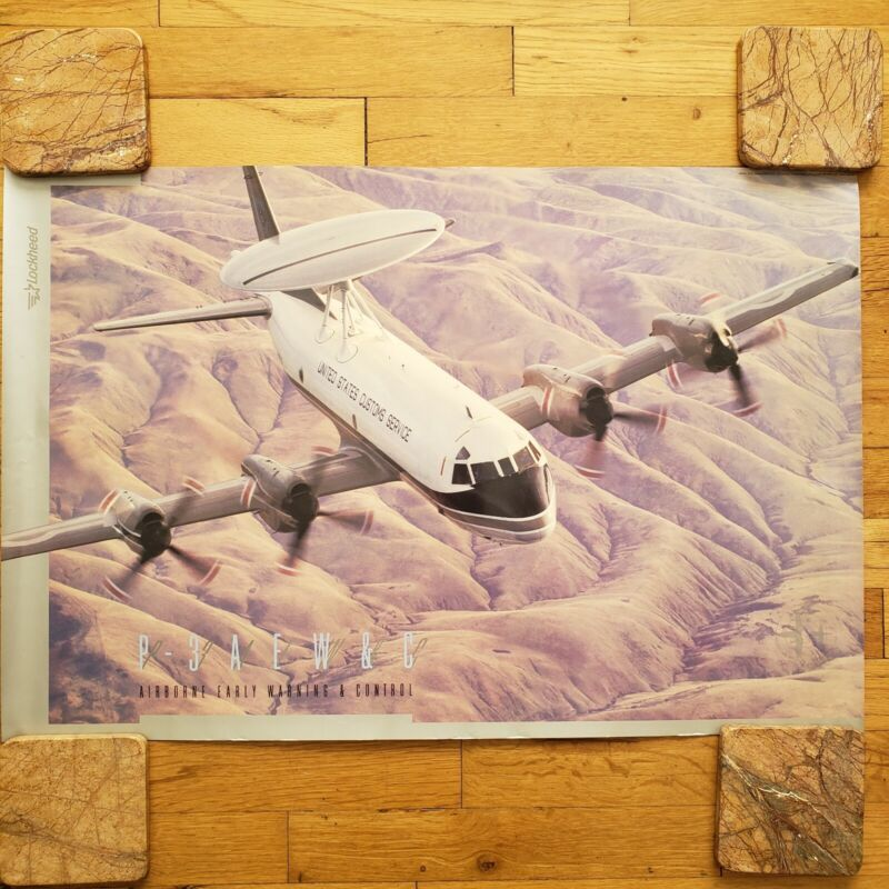 Lockheed P-3 AEW&C Aircraft Poster Airborne Early Warning Control Customs plane