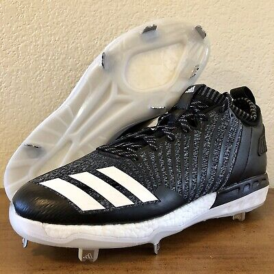 Honest New Adidas Mens Poweralley 5 Black White Metal Baseball Cleats B39181 Sz 12.5 Shoes & Cleats