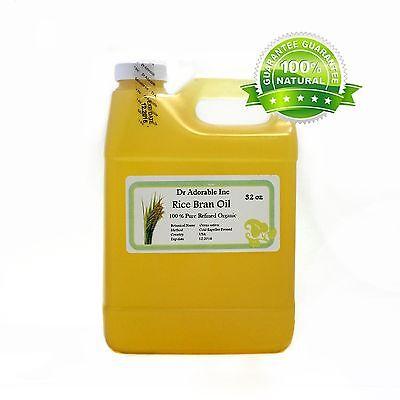 32 Oz Premium Rice Bran Oil Pure Organic Cold Pressed Best Fresh Multi