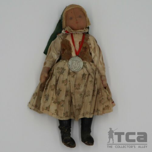 WWI Paderewski Polish Victims Relief Fund Doll With Medal - Circa 1915
