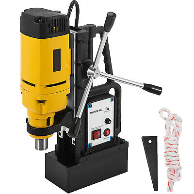 1350w Magnetic Drill Press 1 Boring Amp 3372 Lbs Magnet Force Tapping