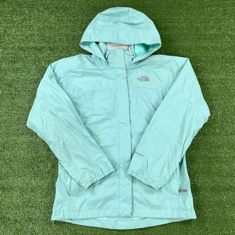 The North Face Hyvent Hooded Rain Jacket Girls Size Large