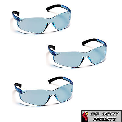 3 Pr Pyramex Ztek Safety Glasses Infinity Blue S2560s Sport Work Eyewear Z87