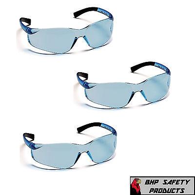 SAFETY GLASSES PYRAMEX ZTEK INFINITY BLUE S2560S SPORT WORK EYEWEAR (3 PAIR)