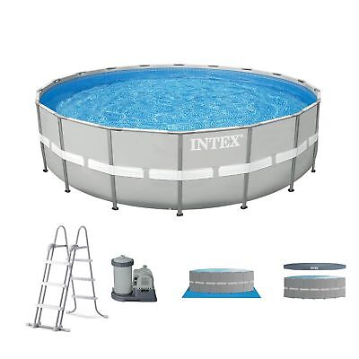 "Intex 20' x 48"" Ultra Attitude Above Ground Swimming Pool Set w/ Pump and Ladder"