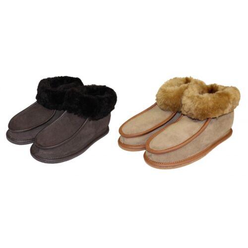 Herren Hausschuhe Damen Lammfell Hüttenhausschuhe Warme Mokassin Schuhe Winter